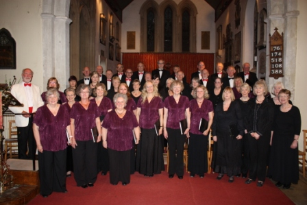 The extended choir presented an impressive repertoire in the delightful St. Mary's Church, Hadlow on12th May 2013.