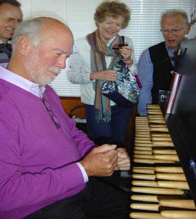 Our Music Director tries out the carillon at St Catherine's Church, Eindhoven