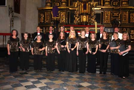 The Singers also gave a performance in Krakow's St Katarzyna church.